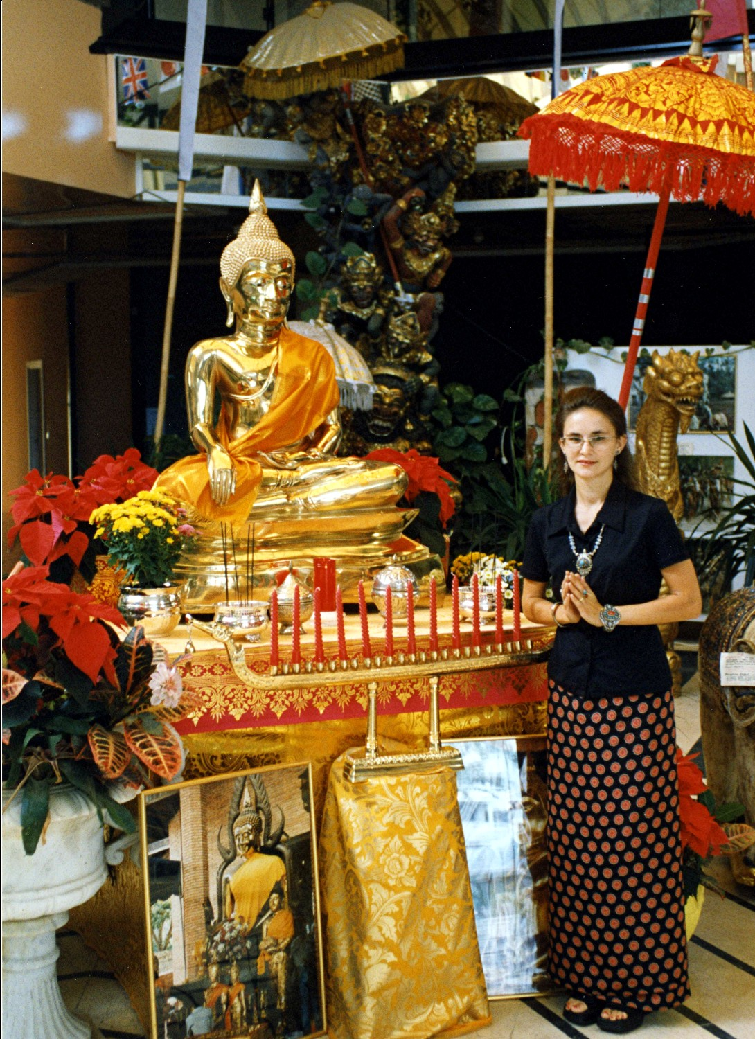former Buddha altar in front of our shop