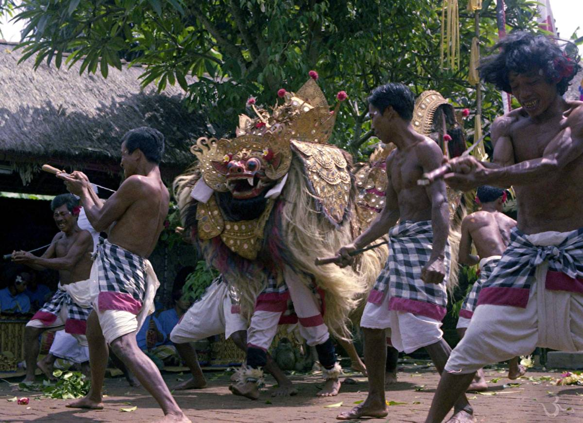 Barong Keris Dance in the seventies at temple ceremony