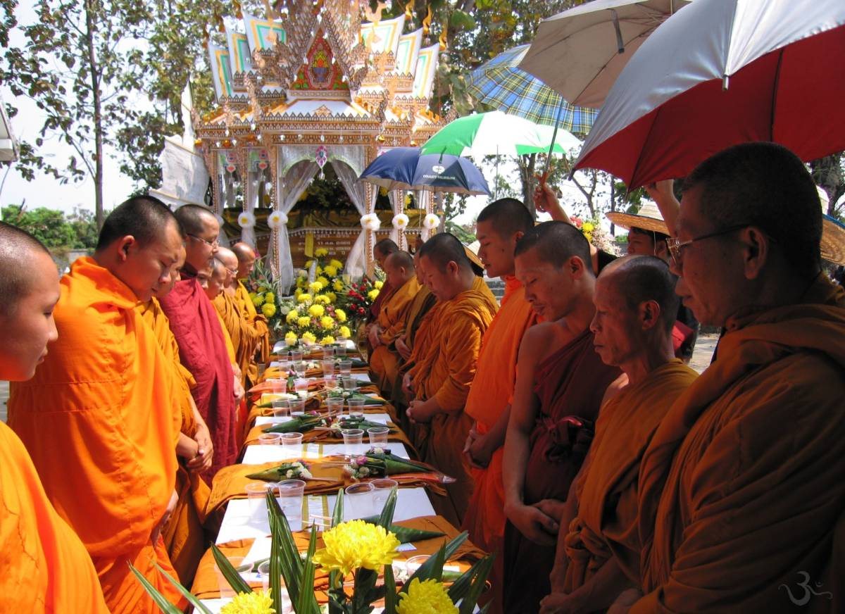 Buddhist monks at a Lanna cremation